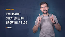 Two major strategies of growing a blog