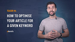 How to optimise your article for a given keyword