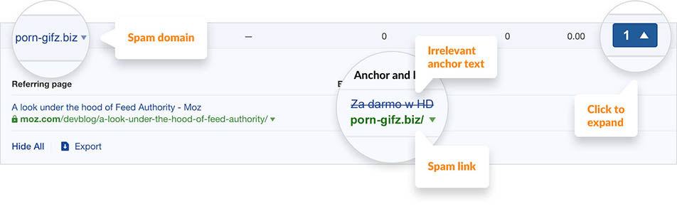 filter for specific TLDs